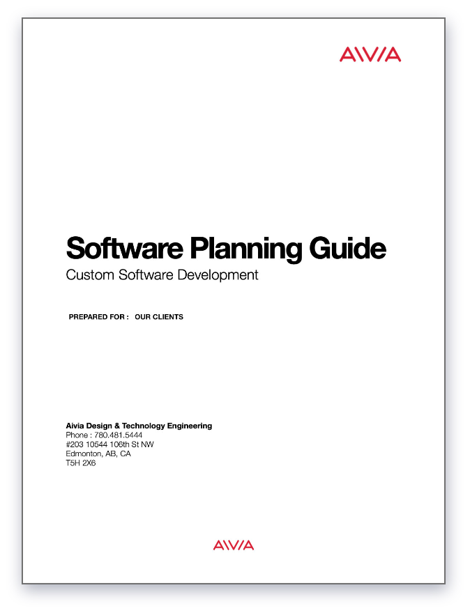 The Custom Software Planning Guide's cover page